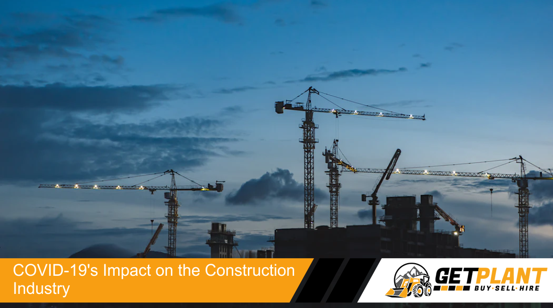 a scenic view of a construction site before an evening sky